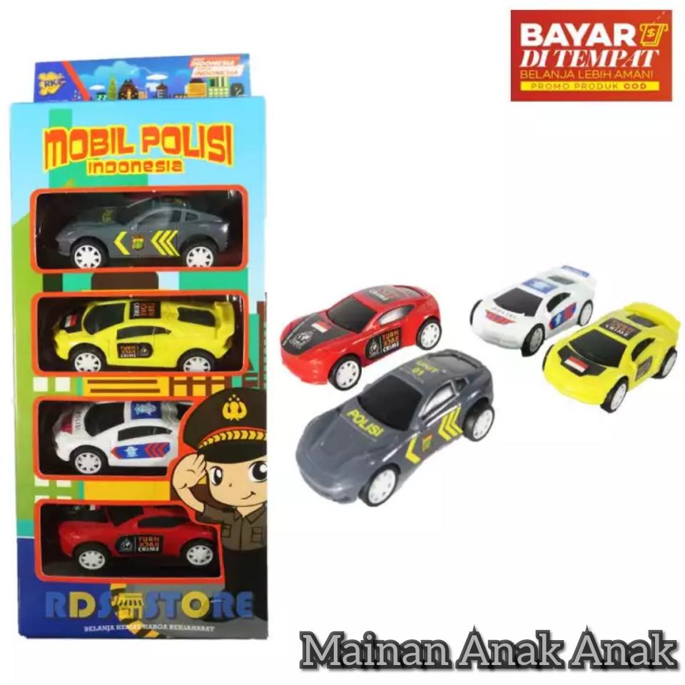 Mainan Anak Cowok Mobil Polisi Mainan Mobil Mobilan Anak Isi 4 Pcs Cocok Untuk Hadiah Anak Lazada Indonesia
