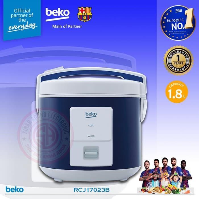 Beko Rice Cooker 1.8 Liter Type 3D RCJ17023B Biru - GARANSI RESMI DAN ORIGINAL