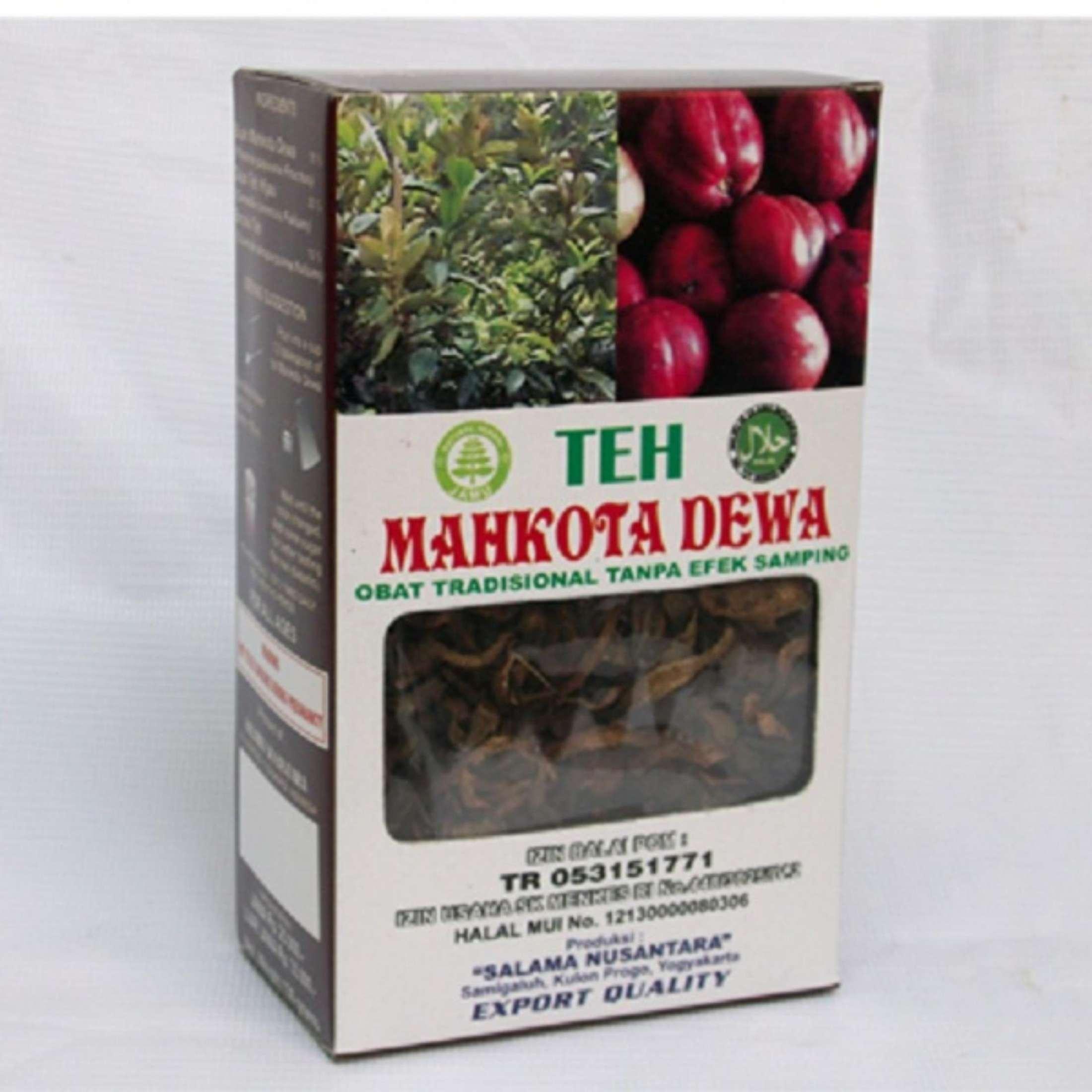 paket 5 box teh seduh mahkota dewa salama yogyakarta @130gr