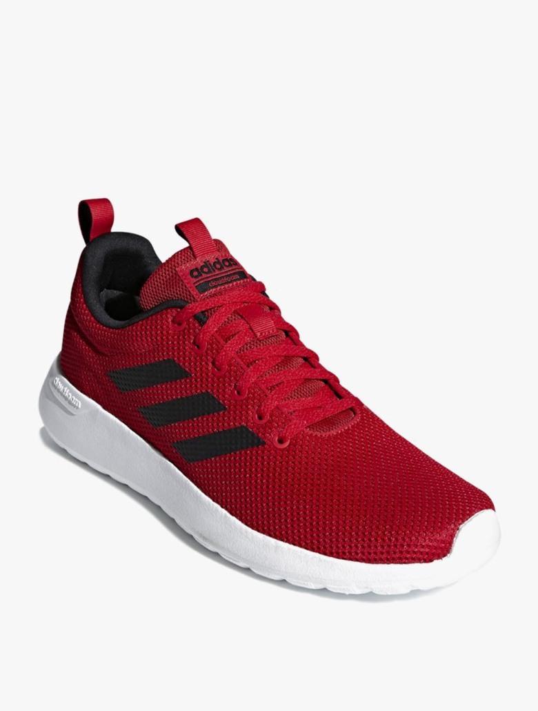 Adidas Lite Race CLN - Sepatu Pria - Merah 2d506536ee