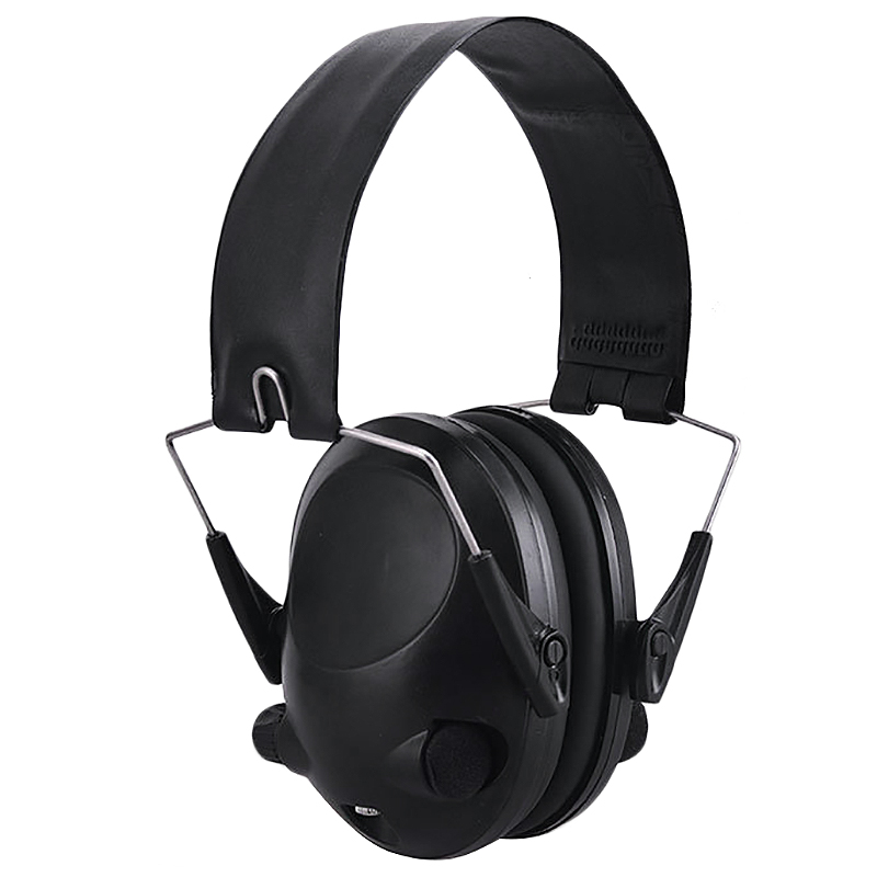 Electronic Ear Protection Hunting Ear Muff Anti-Noise Headset Hearing Ear Protection Headphone for Hunting,Black