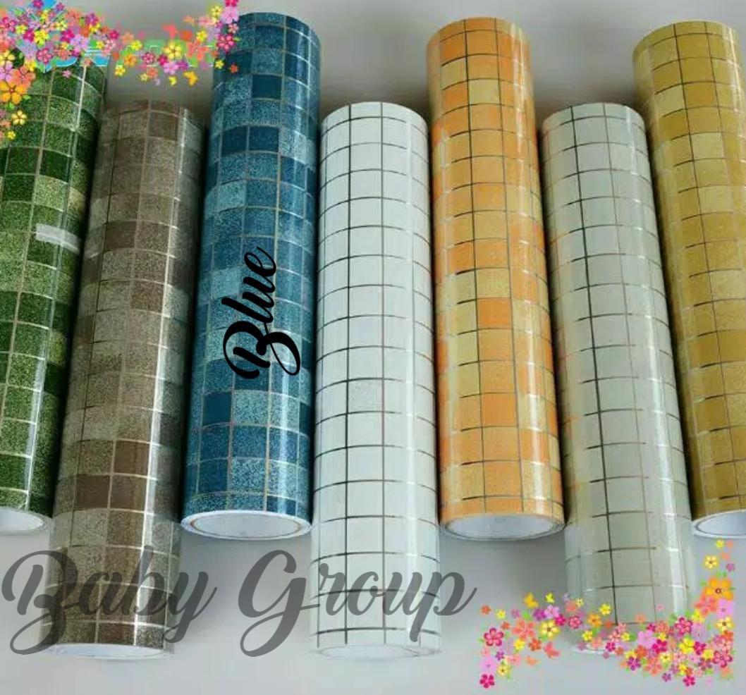 Wallpaper Stiker Dinding Dapur Dan Kamar Mandi Size 45cm X 5meter Bahan Aluminium Foil Premium Matte Elegant By Anathania Acc.