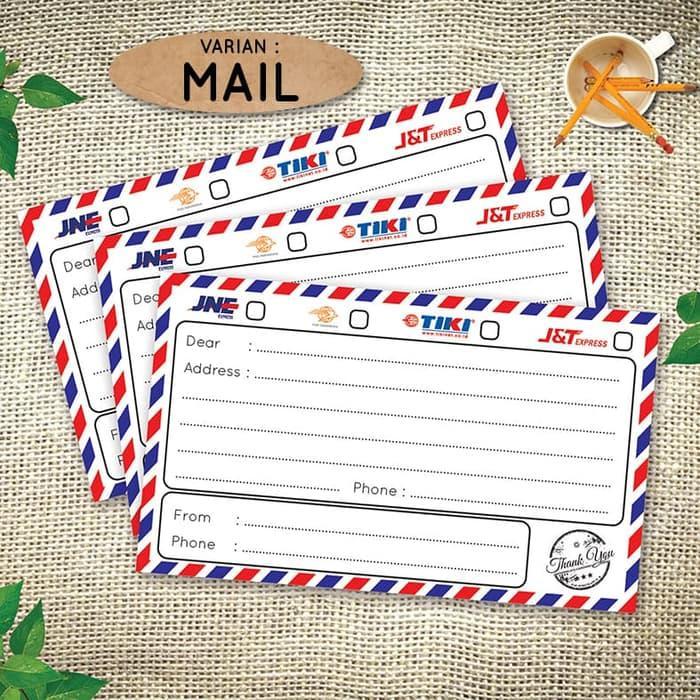 Paket (10lembar Stiker ) Stiker Alamat Pengiriman Olshop - Sticker Shipping Label Online Shop - Mail By Vingy Home Decor.