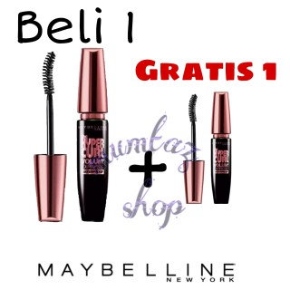 Beli 1 gratis 1 mascara maybeline Mascara waterproof lentik esenses anti air dan tahan lama bening hyper curl volume express turbo termurah thumbnail