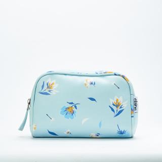 Tonga Pouch Mini Pouch Kosmetik Motif Blue Flowers thumbnail