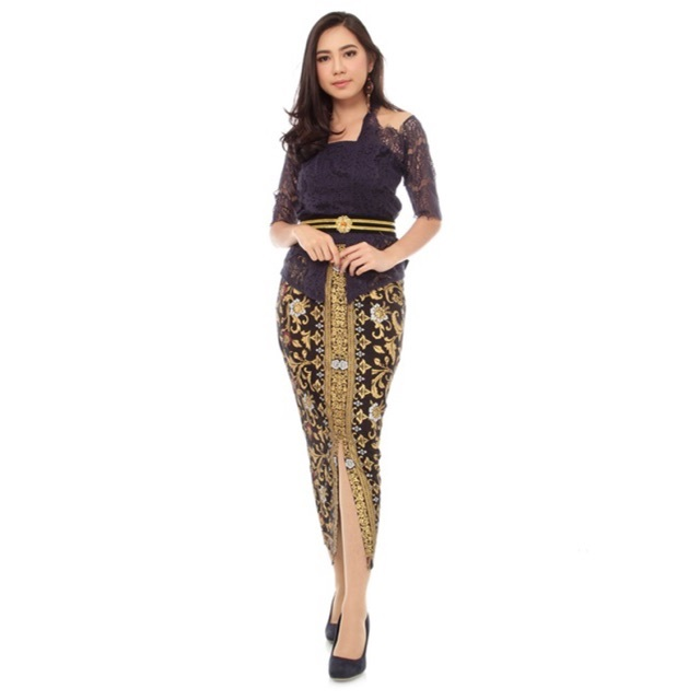 Kebaya Wisuda Modern Rangrang Modif Tile - Kebaya Bali Thania Warna Kombinasi Hitam Gaun Wanita Modern Baju Berkualitas Jaminan Kualitas Terbaik Terbaru Fashion Remaja Model Varian Combine Color Terbaru vn10