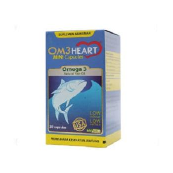 OM3HEART OMEHEART Omega 3 Natural Fish Oil isi 30's