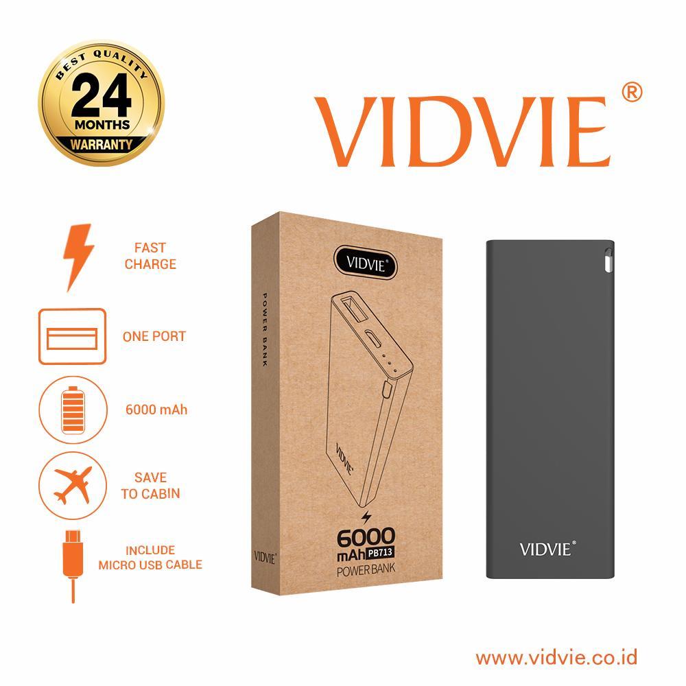 Vidvie Powerbank PB713 6000 Mah / Battery Charger / Pengisi Daya