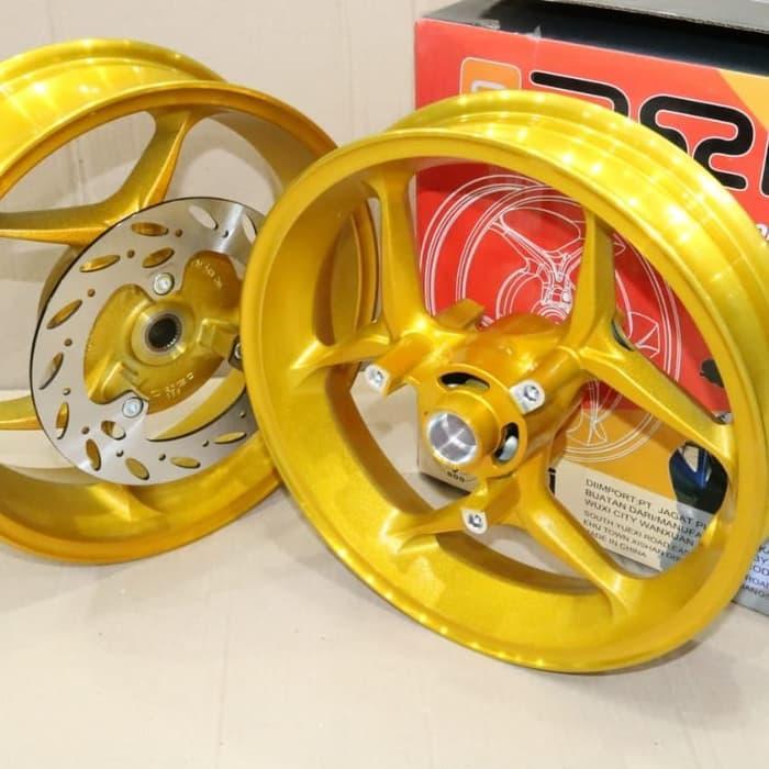 Velg Axio P3y AEROX (Double Disk) Gold & black