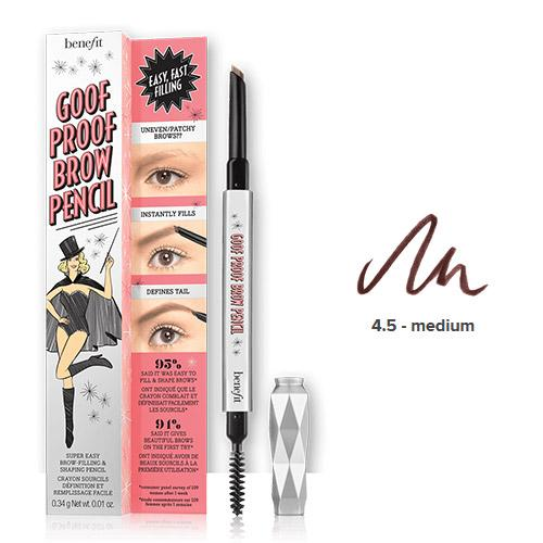 Benefit Cosmetics Goof Proof Eyebrow Pencil 0.34gr - Shade 4.5
