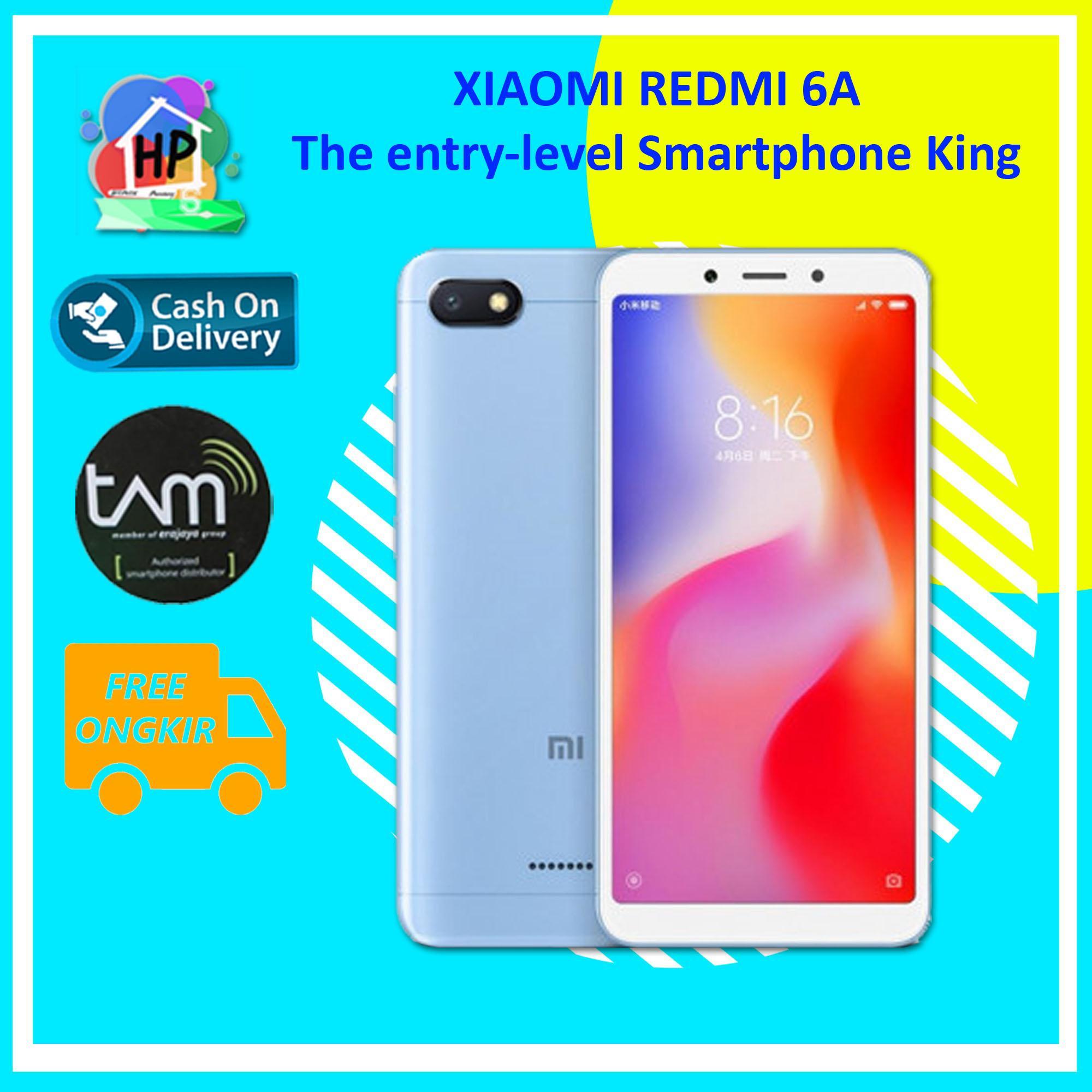 Xiaomi Redmi 6A Smartphone - COD [16GB / 2GB / Resmi TAM] + Gratis Ongkir