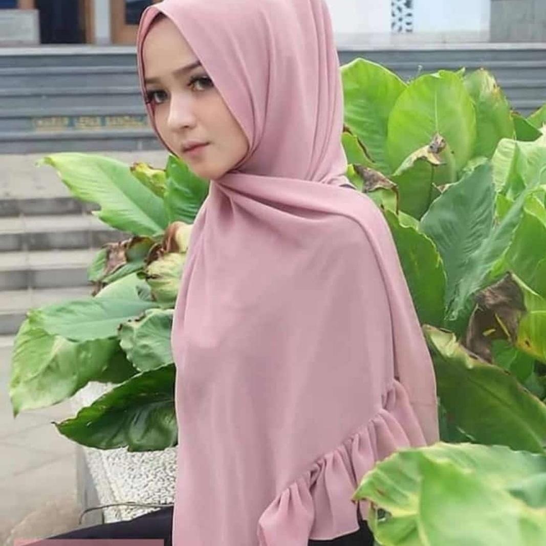 COD Hijab/Jilbab Instan Model pasmina terbaru termurah dan Terlaris / Kerudung Wanita terbaru ceruty babydol rempel / artha_jaya