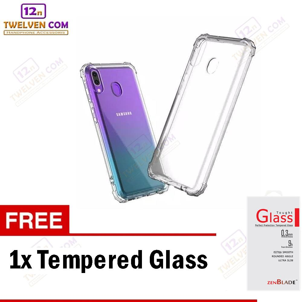 Zenblade Anti Shock Anti Crack Softcase Casing for Samsung A20 - Free Tempered Glass