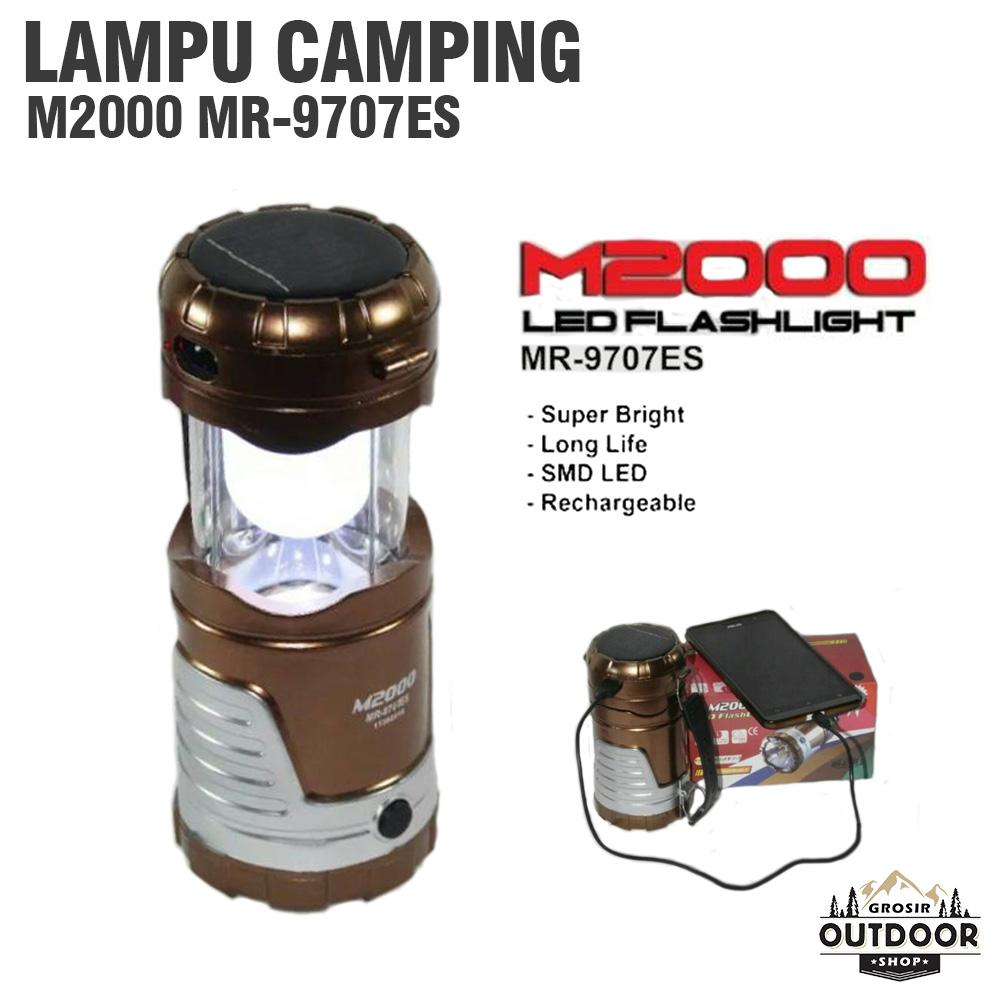 Lampu Camping Solar Cell M 2000 Bisa Jadi Power Bank - Lampu Lentera - Lentera Camping - Lampu Senter - Emergency Lamp By Outdoor Grosir.