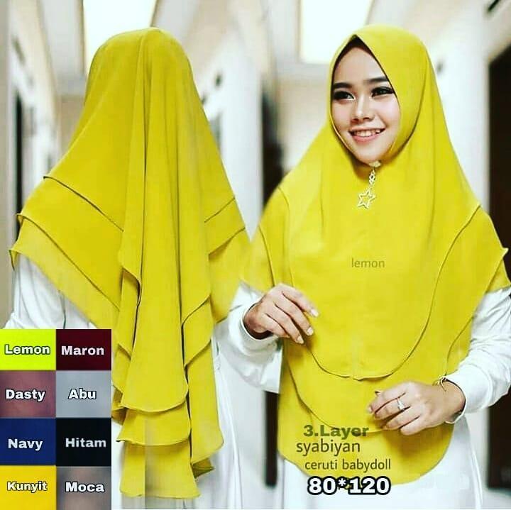 TF PROMO Bisa Bayar di Tempat Jilbab Murah Khimar TRI LAYER HIJAB Hijab Instan Mewah Kerudung Instan Khimar Instan