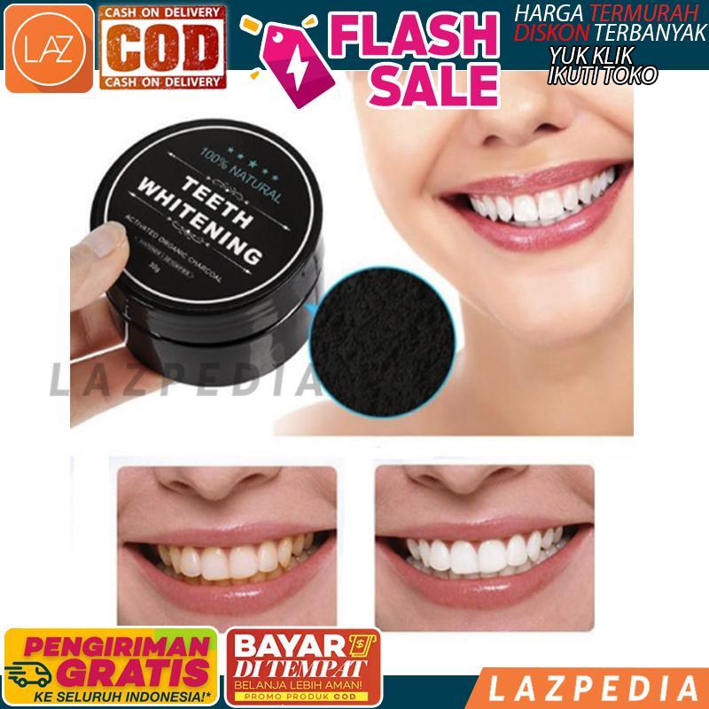 Cod/byr Ditempat - Promo!!!! - Charcoal Powder Activated Teeth Whitening Pot Best Seller / Pemutih Gigi / Perawatan Mulut / Perawatan Diri / Pembersih Gigi - Lazpedia A559 By Lazpedia.