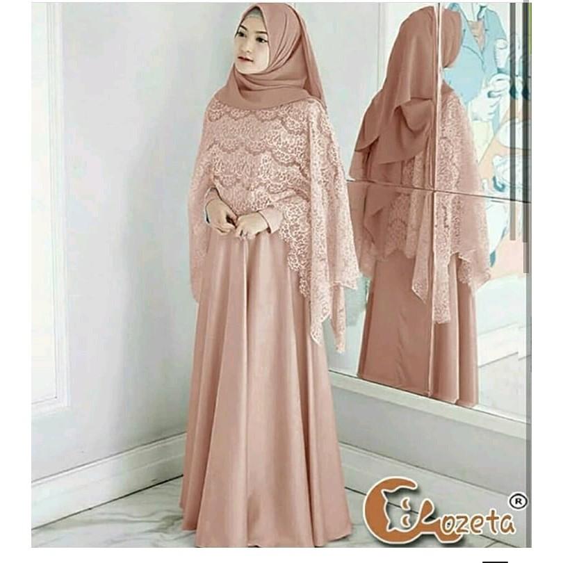 Af Maxy Olivia Brukat Cornelli Baju Pesta Model Gamis Dan Brokat Dress Gamis Lazada Indonesia