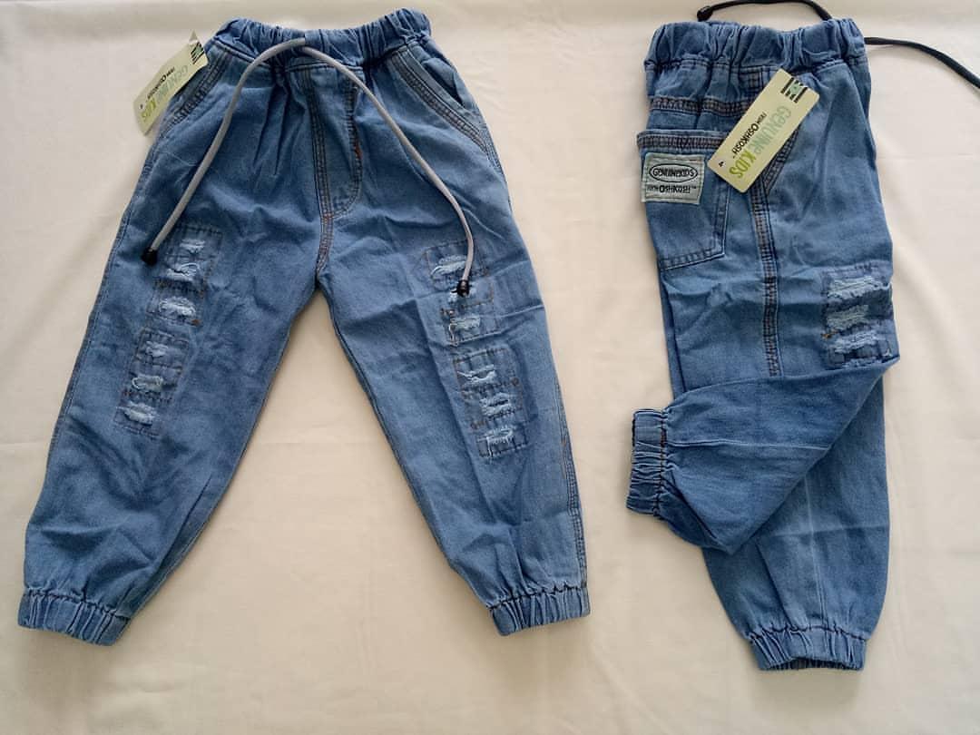 Celana Panjang Jeans Anak laki-laki joger sobek oshkos 1-9 thn