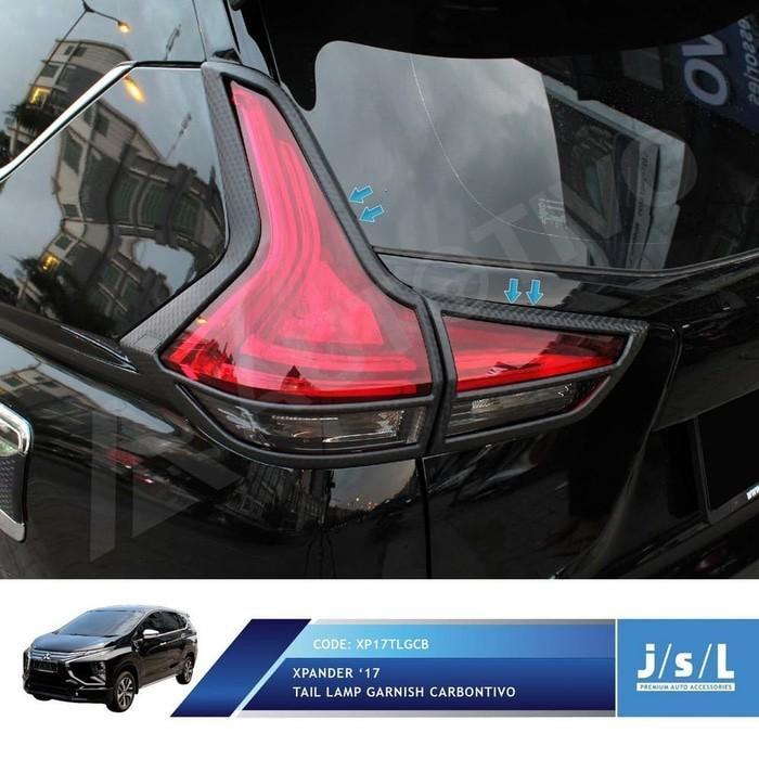 Paket Garnish List Lampu Depan Belakang Mobil Xpander dan List Lampu LED Carbon JSL
