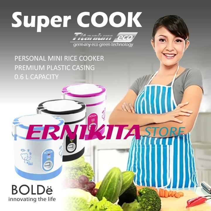 ERNIKITA Alat Masak Super Cook BOLDe - Personal Mini Rice Cooker 3 in 1 (0,6 L) - ERNIKITA Store