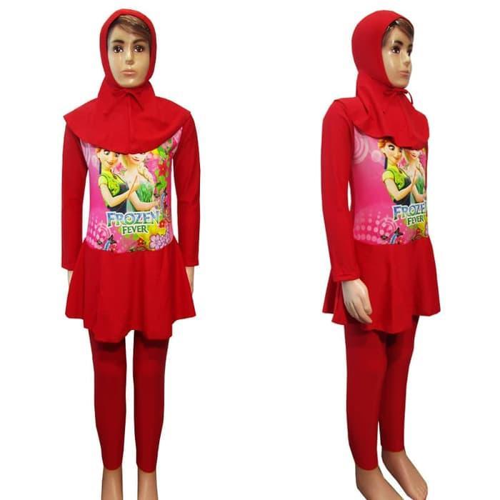Baju Renang Anak Muslim Karakter 6-10 Tahun Bahan Premium Lycra