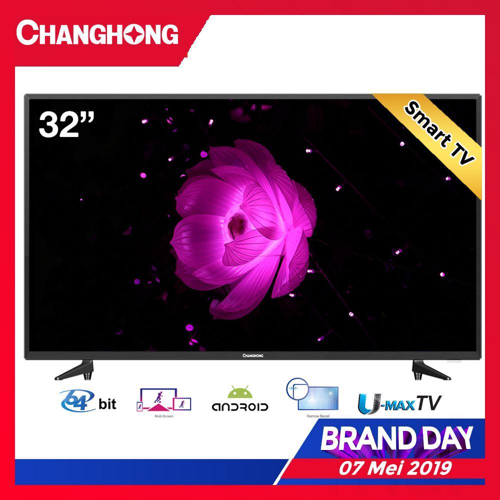 [FLASH SALE 7 Mei 2019 - 09.00] CHANGHONG LED TV  32 Inch - Android Smart TV - HD TV - USB/HDMI - L32H5i - Garansi Resmi 3 Tahun