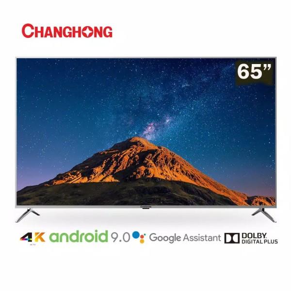 Ready  hanghong 65 Inch 4K UHD Google Certified Android 9.0 Smart TV Netflix LED TV (Model:U65H7A)