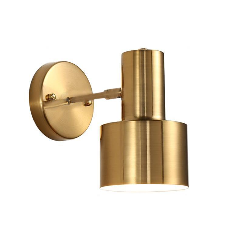 Nordic Bedroom Bedside Wall Lamp Gold Simple Modern Living Room Aisle Bathroom Wall Lamp