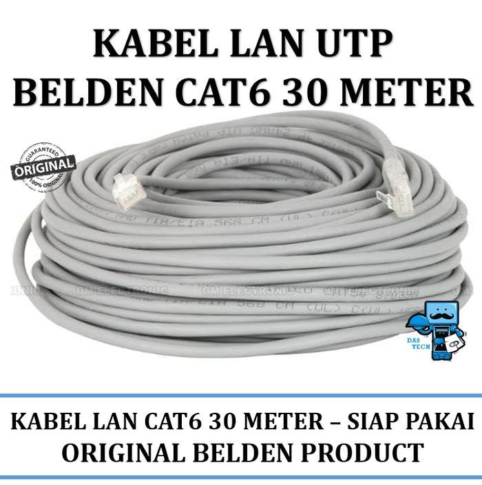 Kabel LAN UTP Belden High Quality Ready to use rj45 30 meter cat 6