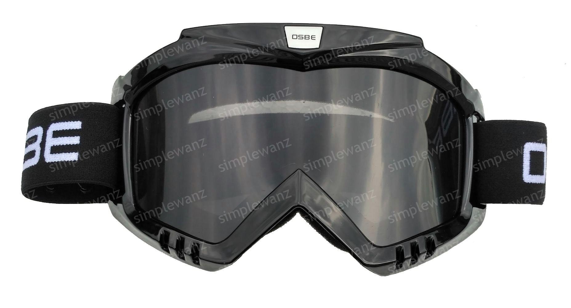 Kacamata Goggle Motocross Trail OSBE Rainbow Google Silver Lens Pelangi 8cb07eec4c