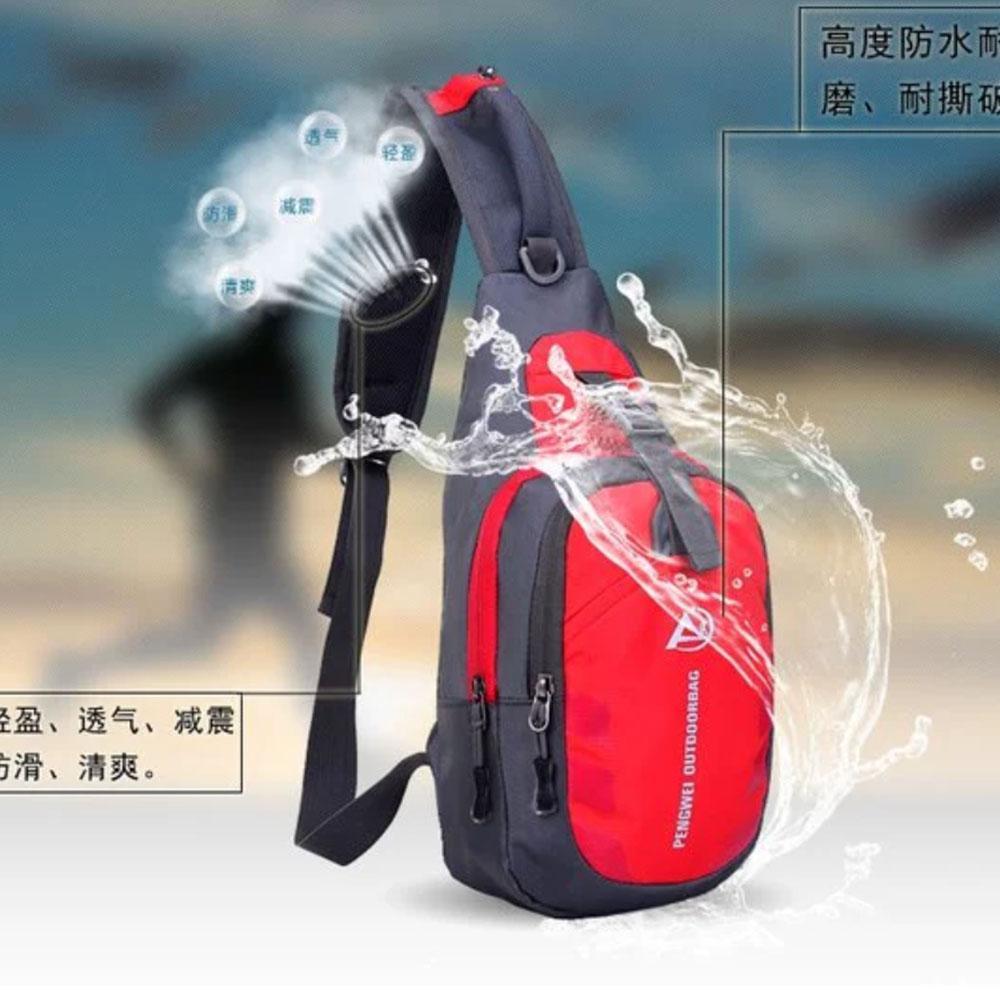 Carboni Waistbag Tas Ransel Tali Satu AA00047 Material Parasut Waterproof - Red