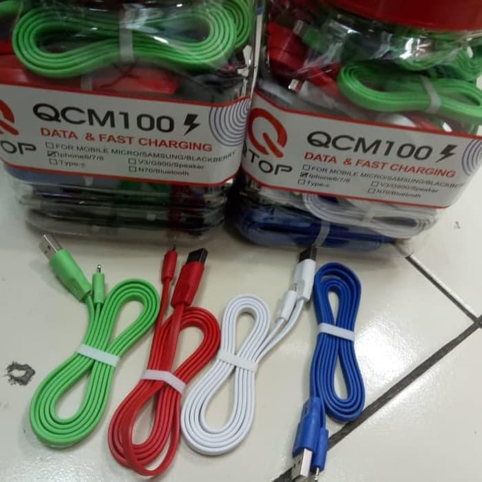 Kabel Data Qtop For Iphone 5 6 7 Kabel Casan Iphone Isi 50psc For Ios