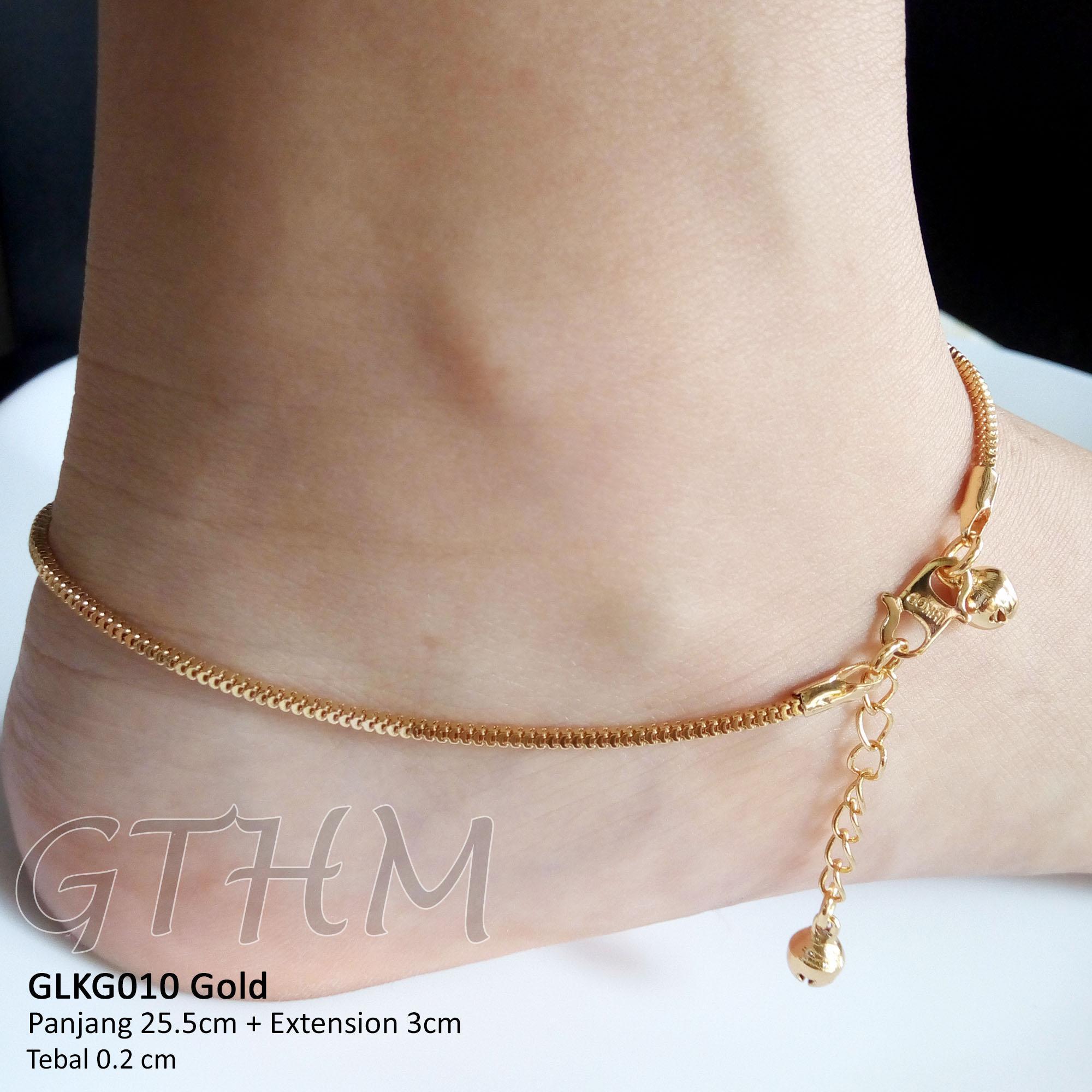 Gelang Kaki Milano Gold Perhiasan Fashion Import Kualitas Premium Titanium Elegan Glkg010 Gthm By Grosir_tashermesya.