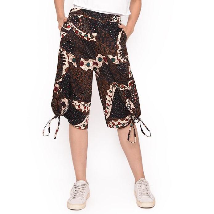 MOSIRU Celana Kulot Batik Wanita Fashion Murah Katun Stretch Karet Premium Termurah 30100106