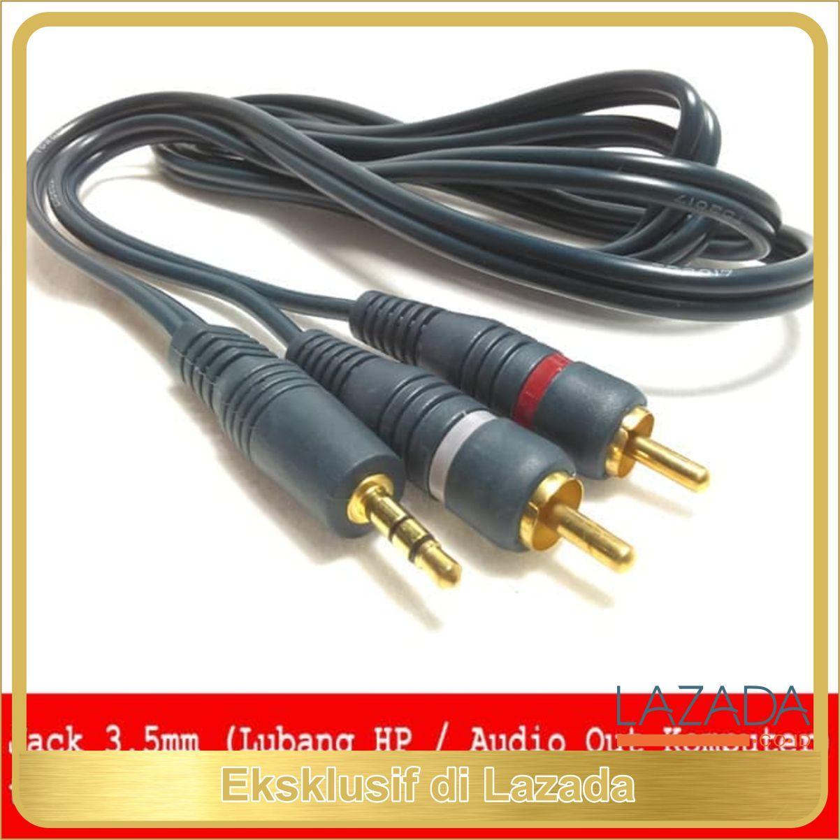 KABEL JACK 3.5MM TO RCA STEREO AUDIO UNTUK DARI HP KE SPEAKER AKTIF TERLARIS DI LAZADA