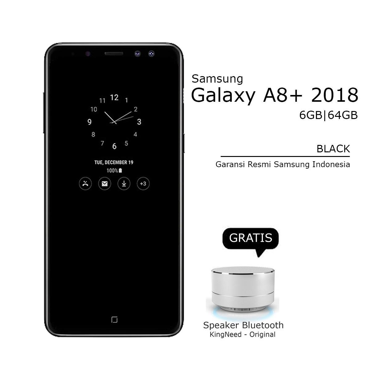SAMSUNG A8+ / A8 PLUS 2018 - 6/64GB - 4G LTE - BLACK