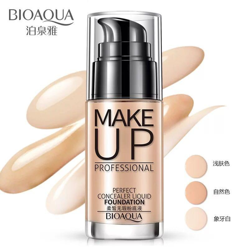 Bioaqua Make Up Professional Perfect Concealer Liquid Foundation By Luckystore.