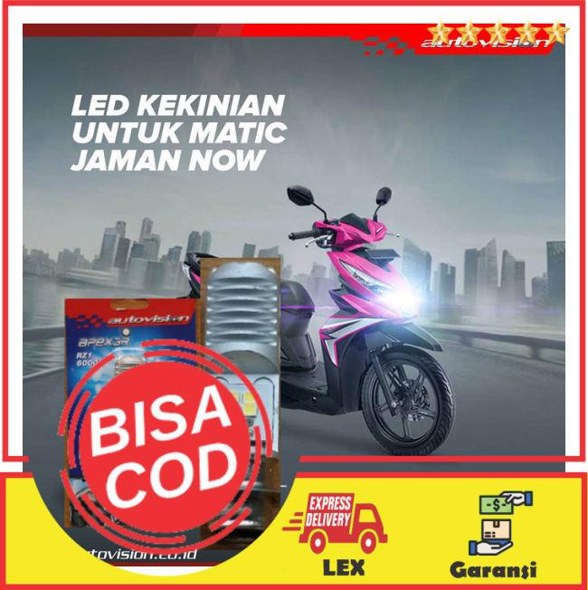 BAYAR DI TEMPAT!!Lampu LED Motor AUTOVISION Honda Beat Street (putih) RZ1 Grs 6bln || Lampu Motor || Bhid