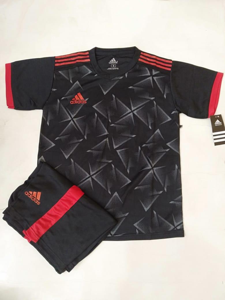 Baju Kaos Olahraga Jersey Bola Setelan Futsal Volly Ad 08 Setelan anak SD  hitam 63885efa80