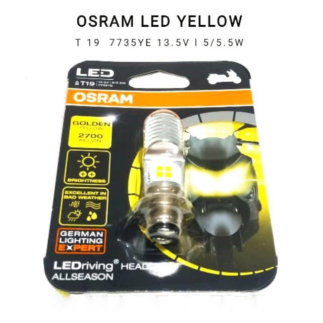 LAMPU DEPAN OSRAM LED YELLOW  VARIO 125 BEAT FI ESP MIO M3