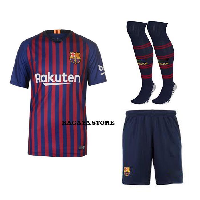 1c2bf31515a Kagaya Store-Satu Set Jersey Bola Replica Shirt Jersey Barcelona Home 2018  2019 Ukuran
