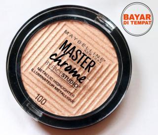 Maybelline Facestudio Master Chrome Highlighter - Molten Gold HARGA PROMO ZAHYRA BEAUTY SHOP thumbnail