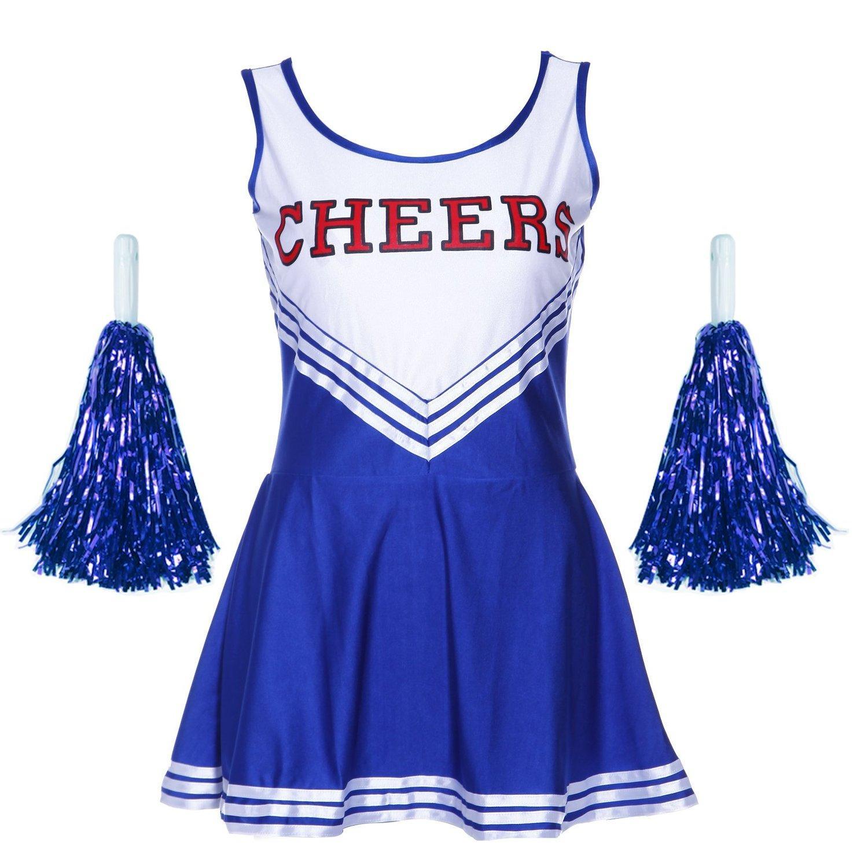 Tank Dress Pom Pom Girl Cheerleaders Disguise Blue Suit M34 36