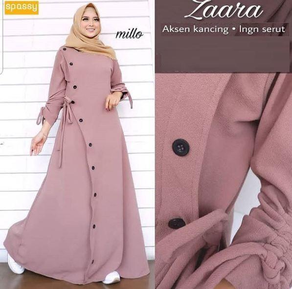 Anya99 Dress Zara Maxy Wanita Modis Muslimah Trendi By Fanyaputri_shop.