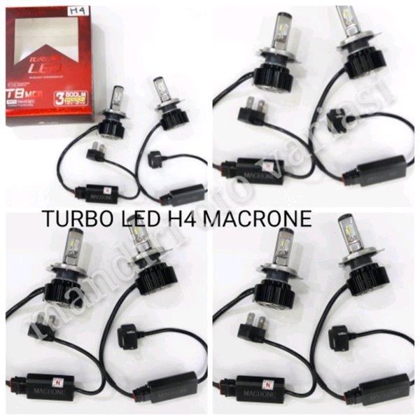 [READY BISA COD] LAMPU HID TURBO LED H4 MACRONE T8 MOBIL LIVINA.GRAND LIVINA TERBATAS