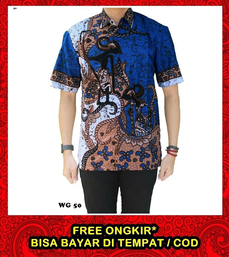 Jual Baju Batik Pria Baju Batik Modern Kemeja Batik Pekalongan Hem Batik Kemeja Motif Wayang Tumpuk Merah By Azka Batik.