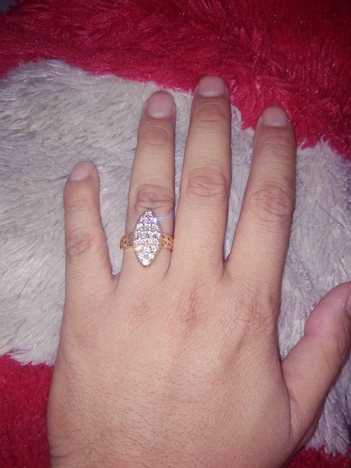 Cincin Xuping Perhiasan Wanita Motif Oval Mewah @xuping Gold By Syifa Herba.