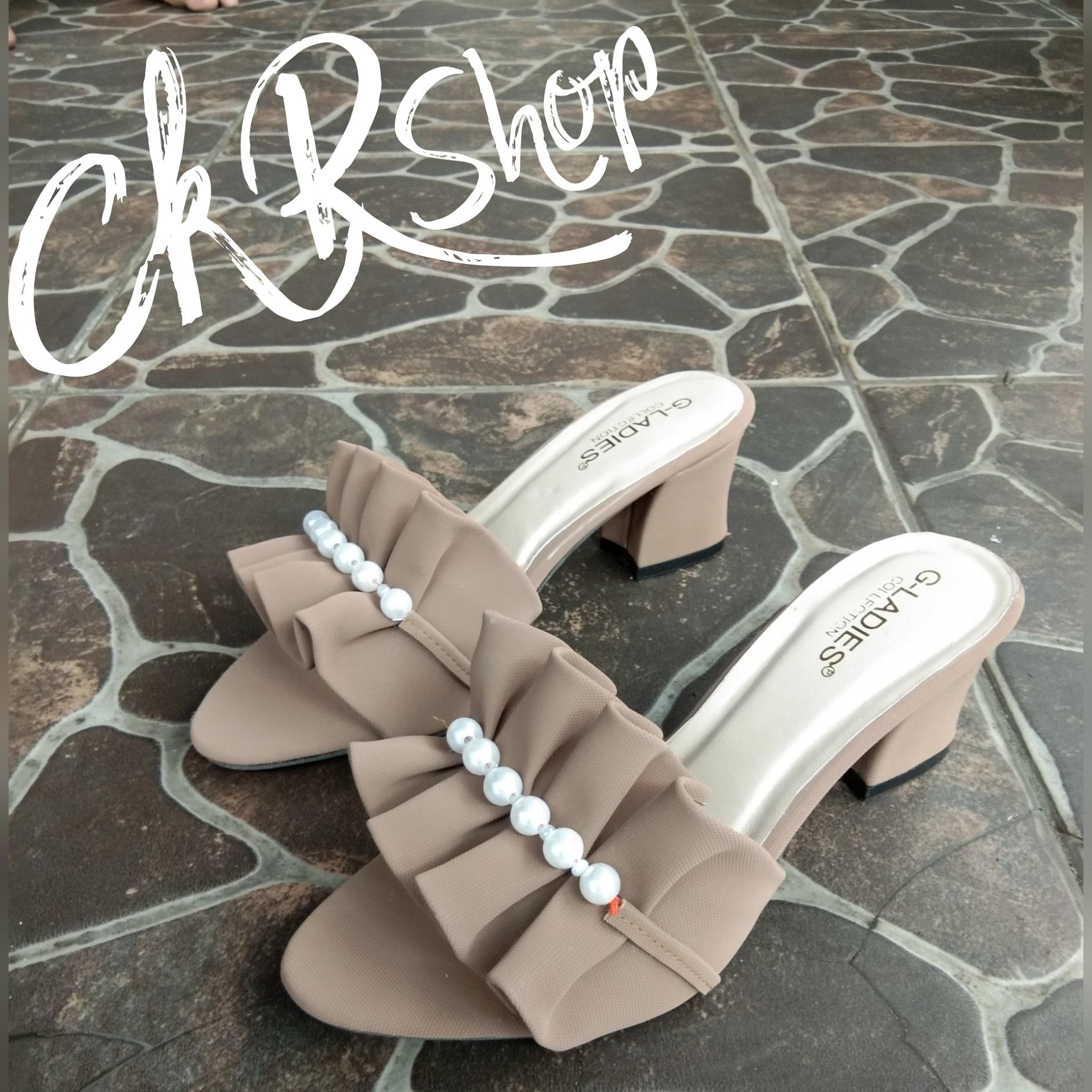 CkR Shop - CH.002 Chunky Heels Mutiara Deret