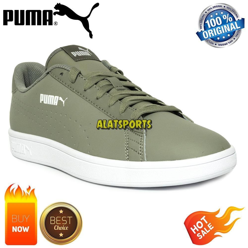 Sepatu Sneaker Pria Puma Smash v2 L Perf 365213-03 - Rock Ridge ORIGINAL 384b8a86a8
