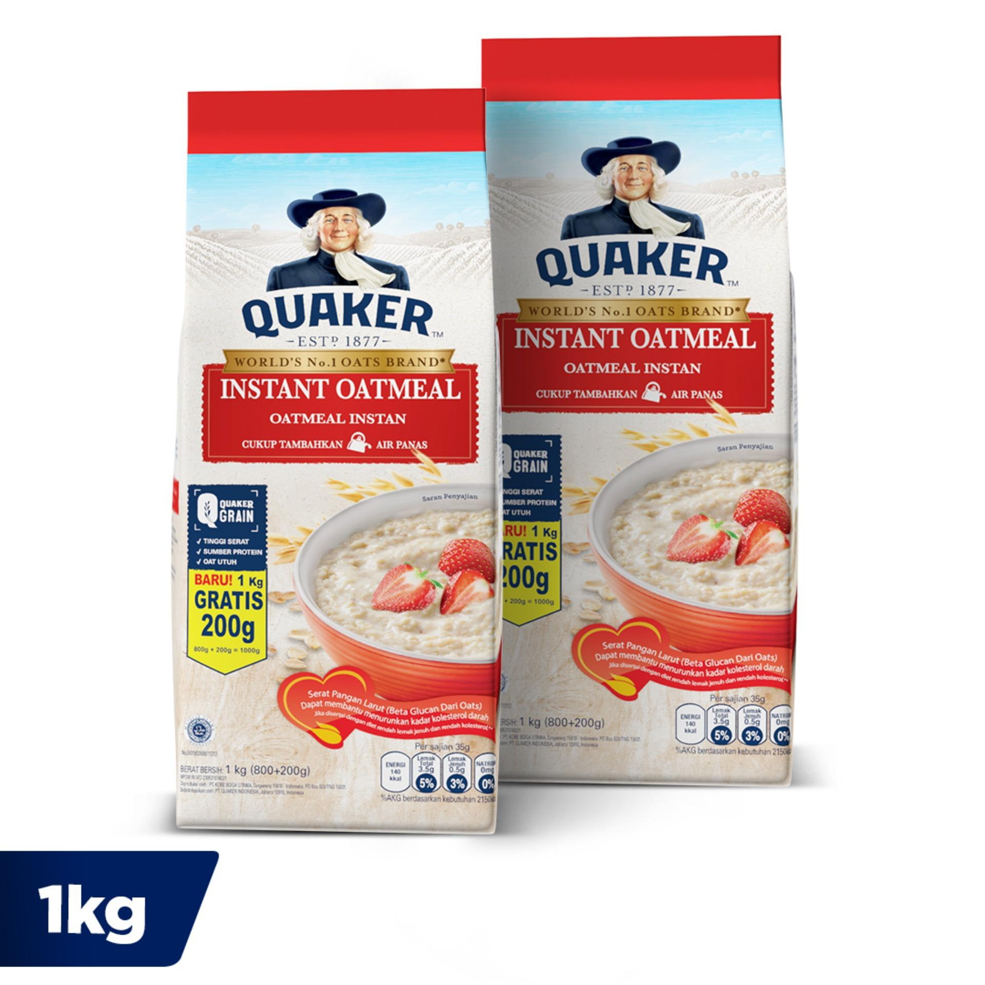 Quaker Instant Oatmeal 800+200 Gr - Twin Pack